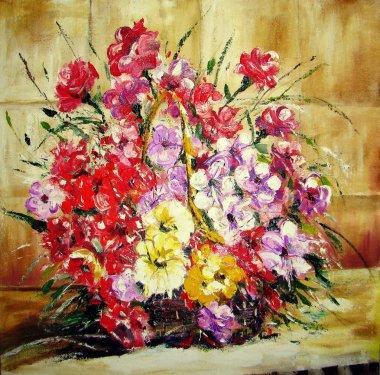 """Картина, постер, плакат, фотообои """"цветок картина пейзаж постеры портрет ретр"""", артикул 43322095"""