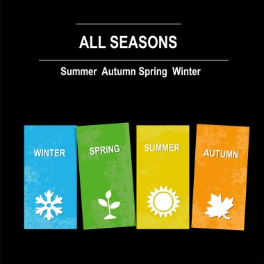 Four seasons icon symbol vector illustration. Weather stock vector