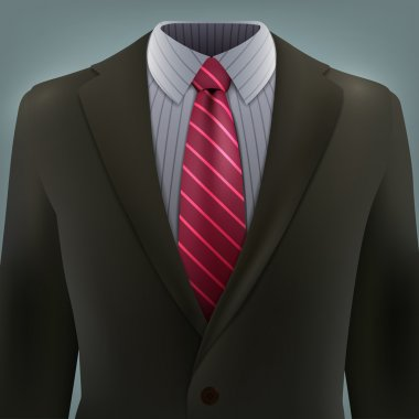 Business suit with a tie
