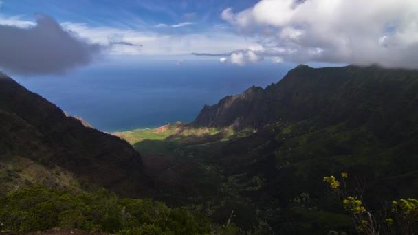Waimea canyon, timelapse, kauai, hawaii, Spojené státy
