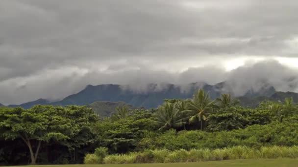 kualoa regionální park, timelapse, oahu, hawaii, usa