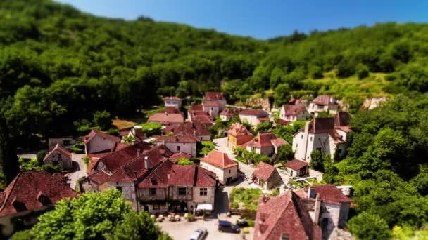 Saint-cirq-lapopie, timelapse, Francie