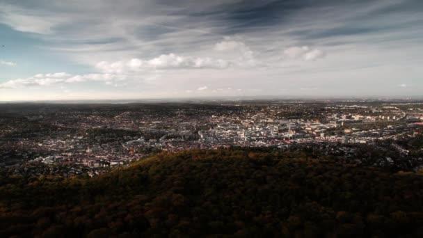 Stuttgart panoráma, timelapse, Německo