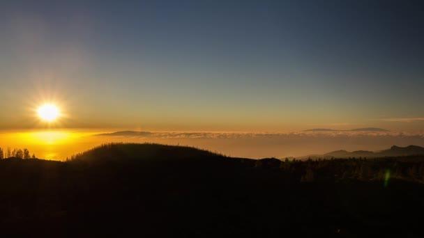 Teide slunce, timelapse, tenerife, Španělsko