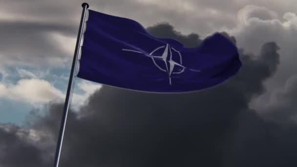 NATO jelző, a különböző háttérrel rendelkező animált