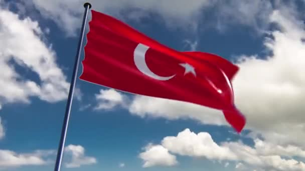 Turkey Flag, animated on different backgrounds