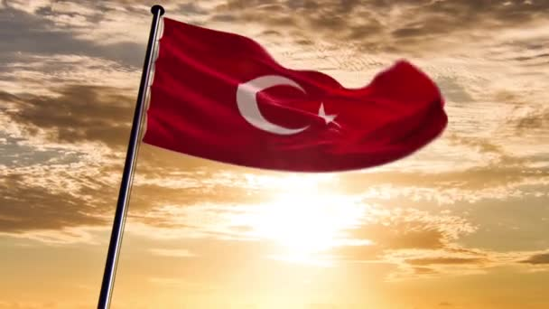 Turecko vlajka, animovaný na různá pozadí