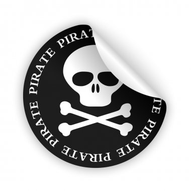Vector pirate bent sticker