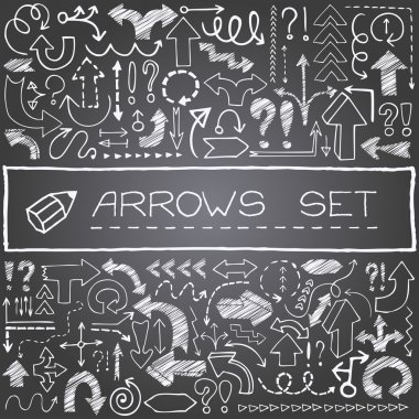 Hand drawn arrow icons set