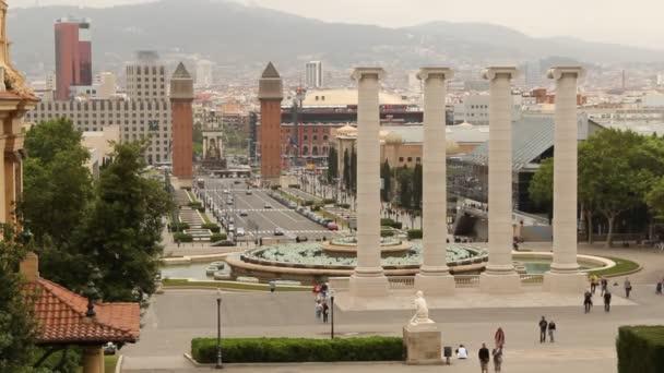 Placa espanya a barcelona Panorama