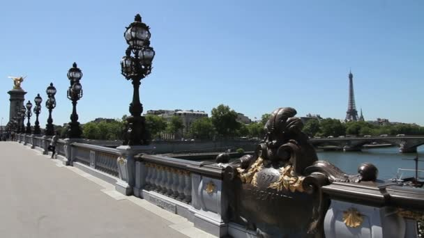 Eiffelova věž a alexandre iii most, Paříž
