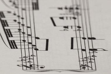 Piano Score Blur