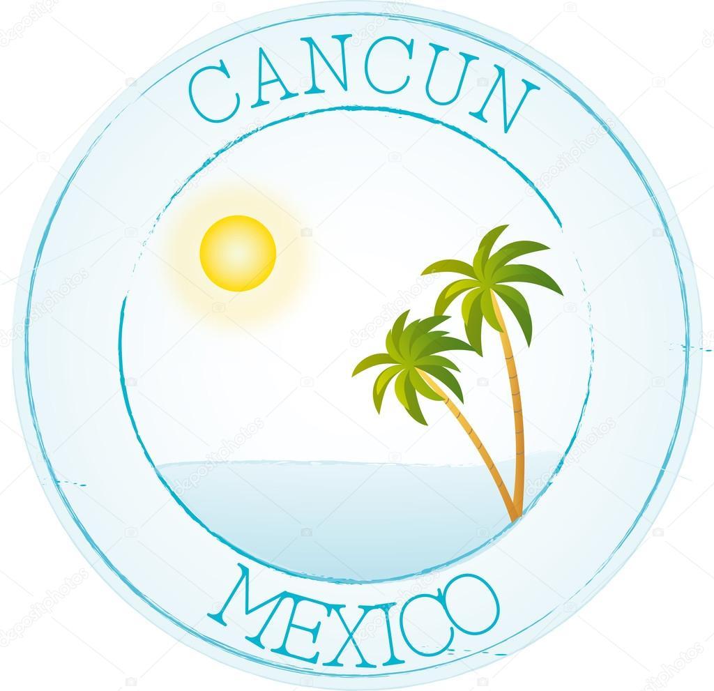Stamp Cancun Stock Vector C Mivoyelle 42156995