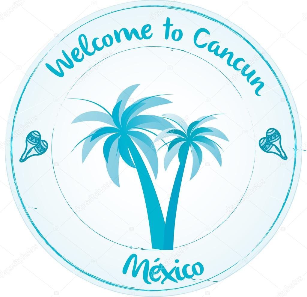 Welcome To Cancun Stock Vector C Mivoyelle 42157929