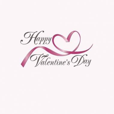 Vector card with Valentine's Day Happy