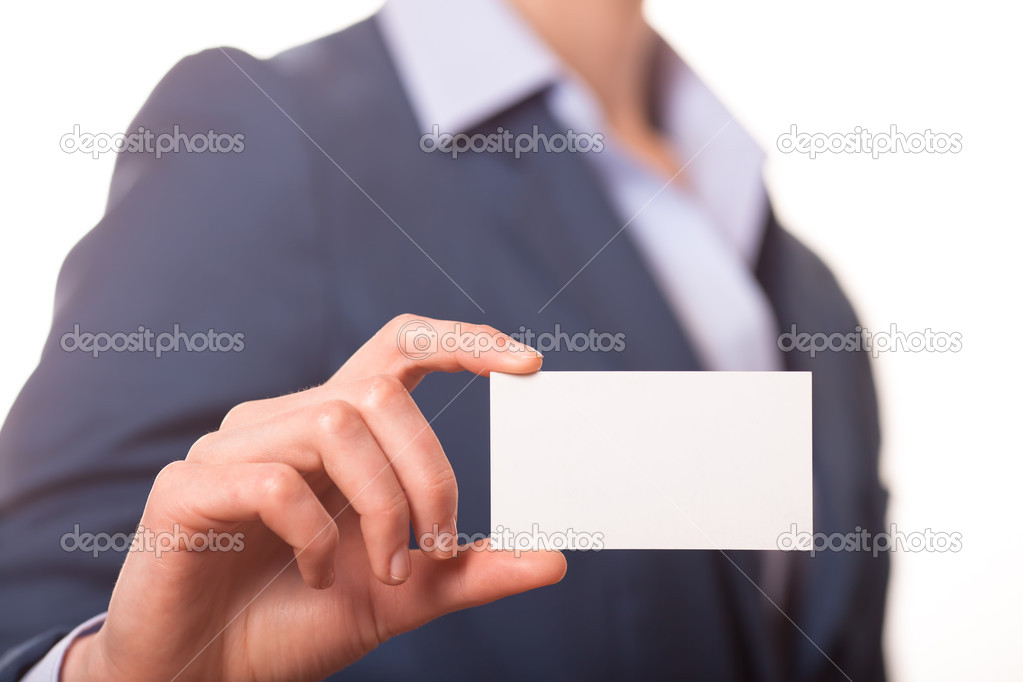 Women handing a business card stock photo denisenko 39379587 women handing a business card stock photo colourmoves