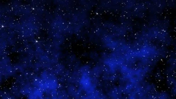 fly in space stars nebula