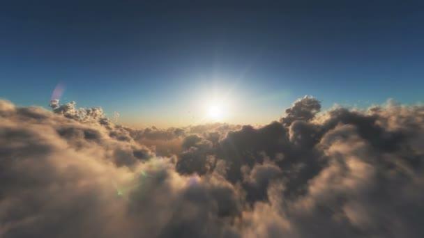 letět nad mraky modré nebe