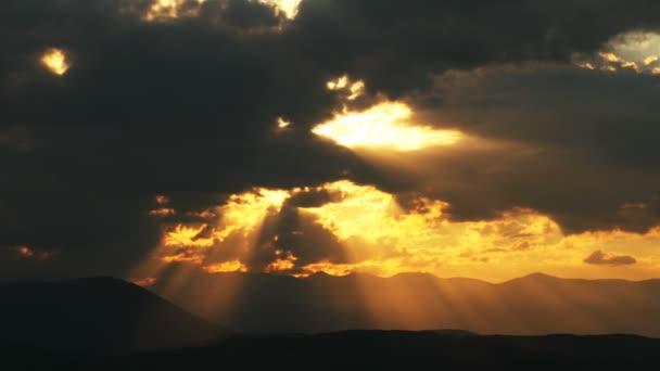 Sonnenuntergang Zeitraffer-Wolken