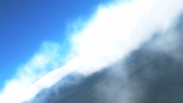 letět nad mraky v modré obloze