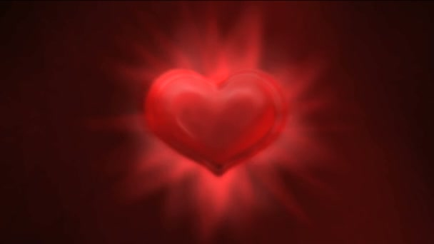 svítící červené srdce