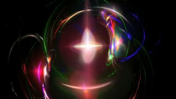 Abstraktní barvy galaxie animace