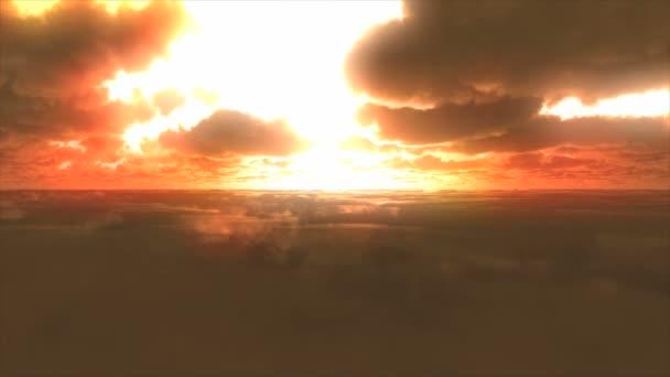 abstrakte Wolken Sonnenuntergang fliegen