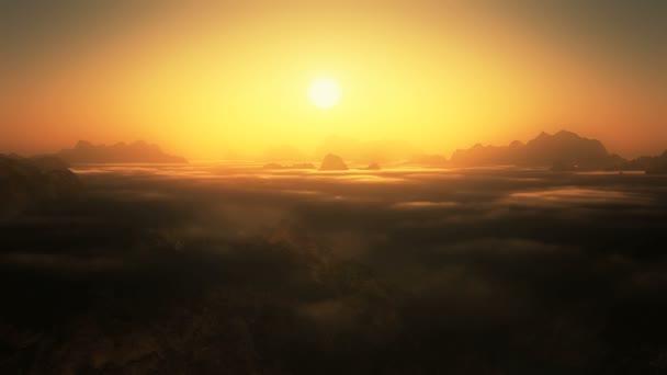 horské slunce mraky