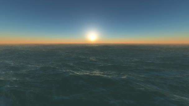 tramonto sulloceano orizzonte