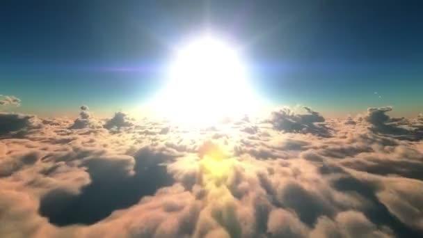 Letu nad mraky a slunce