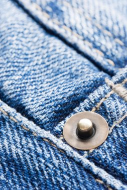 Stitched seam on a jeans fabric stock vector