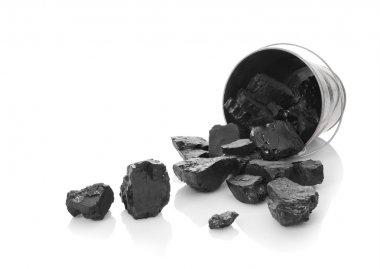 Zinc bucket with coal