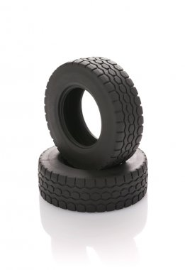 Rubbers from an automobile wheel