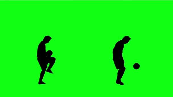 fotbalista žonglování míč