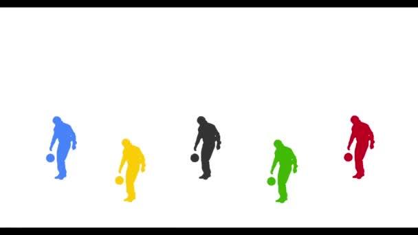 fotbalista siluety žonglování míč