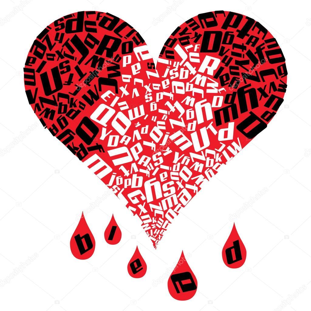 Imágenes Corazones Sangrando Para Dibujar Sangrado Corazón Foto