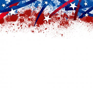 An abstract illustration of an American Patriotic background stock vector