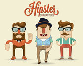 Photo Hipster characters