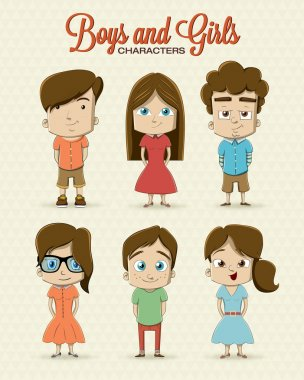 Hipster girl character with hipster elements and icons stock vector