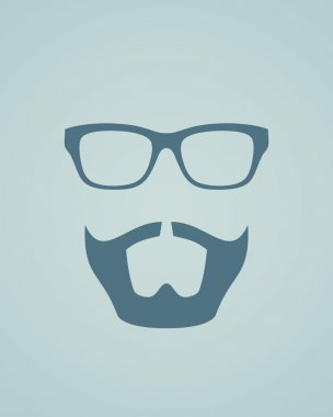 Glasses with beard.
