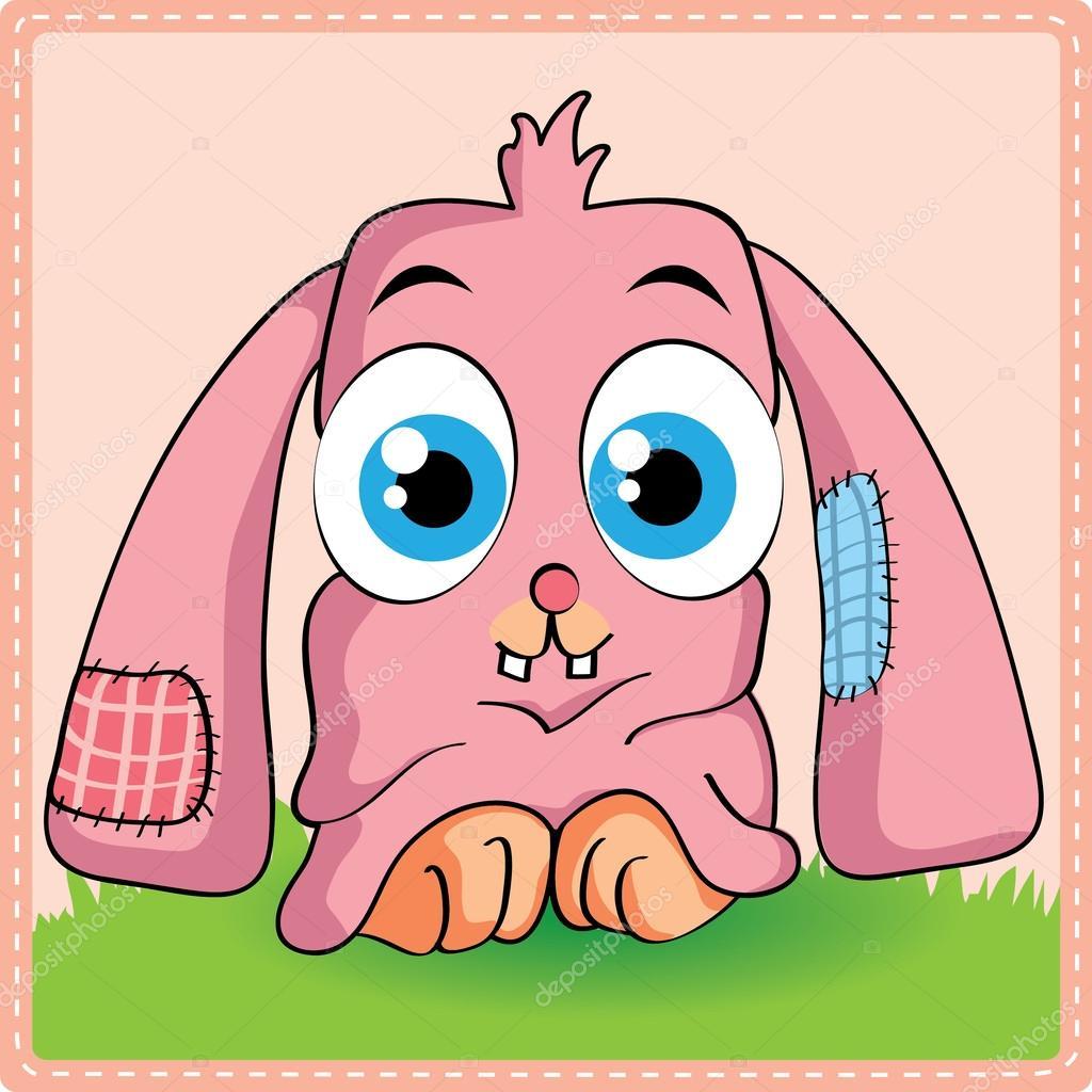 Cartone animato carino coniglio — vettoriali stock