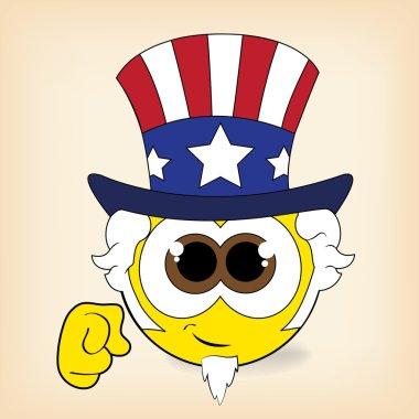 Uncle Sam smiley