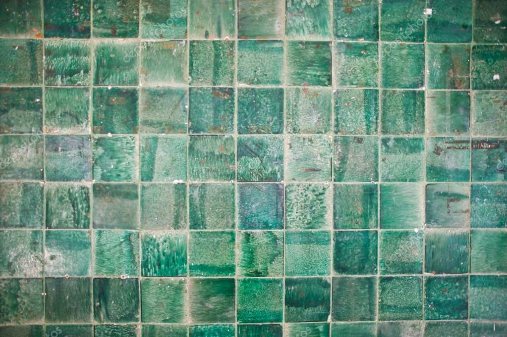 Mattonelle verdi superficie e texture delle pareti u foto stock