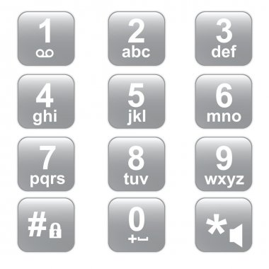 phone keypad, gray telephone buttons