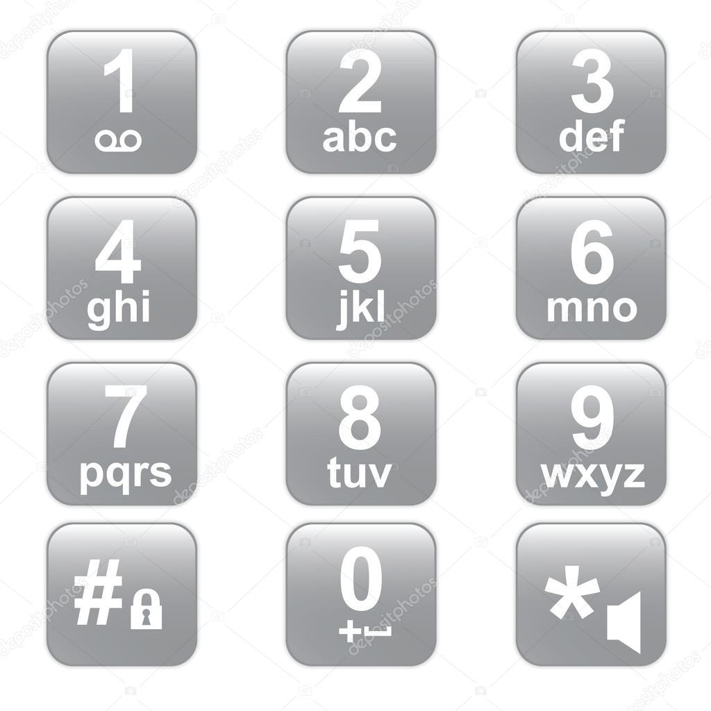 Phone Keypad Gray Telephone Buttons Stock Vector Littlecuckoo