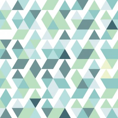 Blue bright abstract triangles background