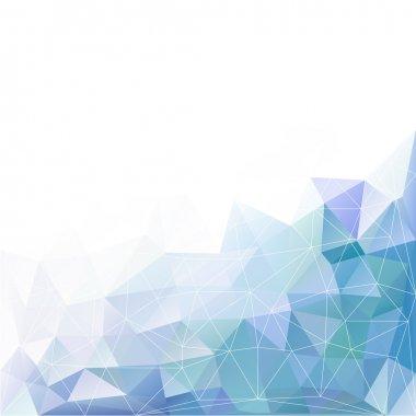 blue geometric triangle polygon background