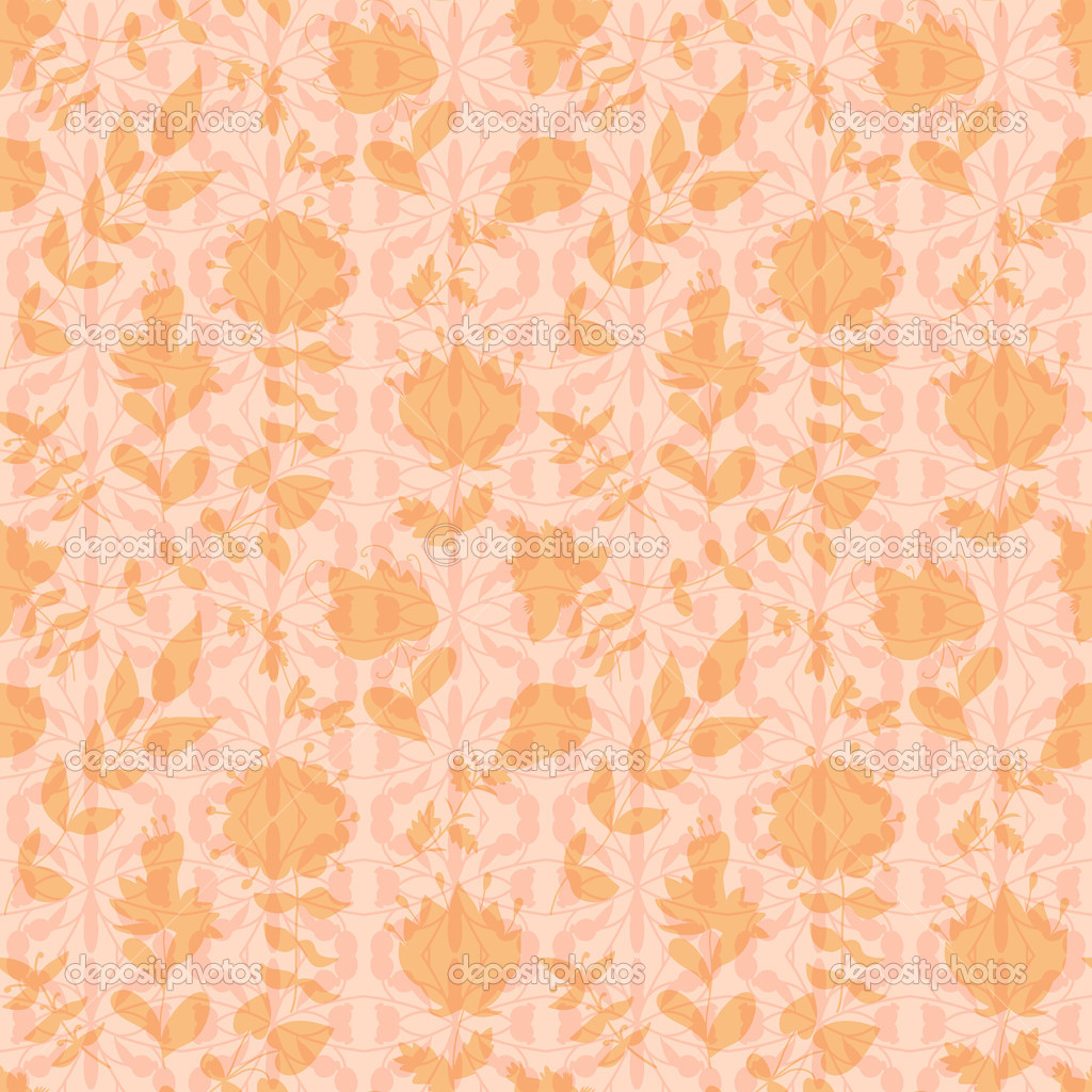 Neutral Floral Wallpaper Stock Vector C Little Cuckoo 45038811