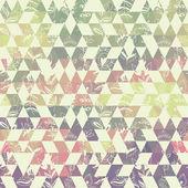 Fotografia modello geometrico con elementi del triangolo e pianta