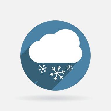 Cloud snow icon.